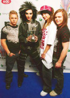 Tokio Hotel when they won at MTVs emas