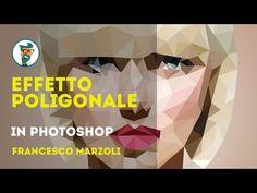 Tutorial Photoshop - Effetto Poligoni Triangoli - YouTube