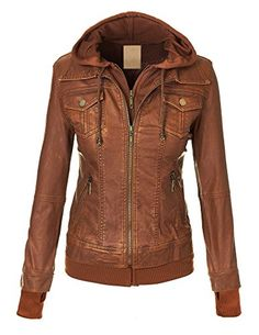 Super cute, LL Womens Hooded Faux leather Jacket (scheduled via http://www.tailwindapp.com?utm_source=pinterest&utm_medium=twpin&utm_content=post165508847&utm_campaign=scheduler_attribution)