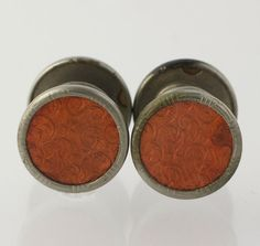 Orange Enamel Cuff Links  Vintage Snap Button by WilsonBrothers