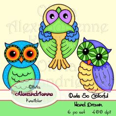 Owls So Colorful