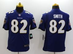 Baltimore Ravens 82 Torrey Smith Purple Limited Jersey