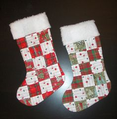 quilted christmas stockings | diy: quilted Christmas stocking | rabit stew Homemade Christmas, Diy Christmas Gifts, Christmas Projects, Christmas Crafts, Christmas Ideas, Christmas Patterns, Christmas Decorations, Holiday Ideas, Christmas Ornaments
