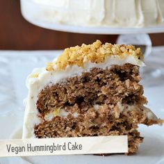 Vegan Hummingbird Cake | Made Just Right by Earth Balance #vegan #earthbalance