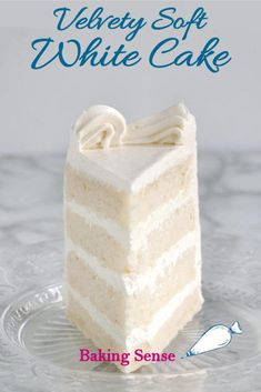 Wedding Cake Recipes Velvety, soft white cake made from scratch is easy to do. How you mix the cake makes a big difference. Find out why the reverse creaming technique is the way to get a white cake with a tender and moist crumb. Food Cakes, Cupcake Cakes, Cake Recipes From Scratch, Easy Cake Recipes, White Cake Recipes, Simple White Cake Recipe, White Wedding Cake Recipe From Scratch, Wedding Cake Recipes, Wedding Cakes