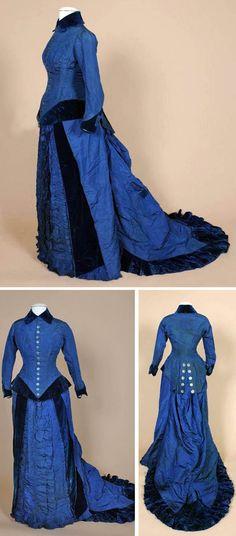 Dress, ca. 1870s. Shippensburg Univ., Facebook.