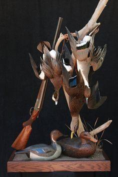 Duck Hunting Decor, Hunting Lodge Decor, Hunting Cabin, Hunting Rooms, Hunting Stuff, Deer Hunting, Taxidermy Decor, Taxidermy Display, Bird Taxidermy