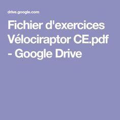 Fichier d'exercices Vélociraptor CE.pdf - GoogleDrive