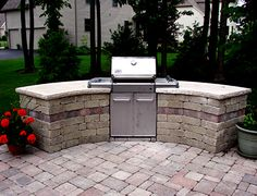 how to build stone grill surround - Google Search