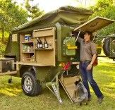 UEV-440 Off Road Camper Trailer Packs Everything from Wine Glasses to Flat-Screen TVs  Read more: UEV-440 Off Road Camper Trailer Packs Everything From Vine Glasses to Flat-Screen TVs | Inhabitat - Sustainable Design Innovation, Eco Architecture, Green Building
