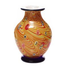 Hand Blown yellow Vase Art Glass Figure by Luxury Lane, http://www.amazon.com/dp/B004SRPD0I/ref=cm_sw_r_pi_dp_OjlBqb00484BQ