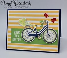 I used the Stampin' Up! Bike Ride stamp set bundle and Lovely Wishes stamp set to create a fun card to share with you today. My card design was loosely inspired by The Paper Players PP378. Th…