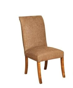 Amish Sheridon Parsons Chair Versatile and ready for every day, the Sheridon wears lovely Parsons style. Solid wood construction. Choice of wood, stain and upholstery. #parsonschairs #diningchairs