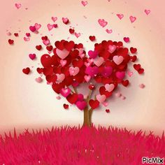 My heart tree is full of love for you , Beautiful Lady. Diy And Crafts, Paper Crafts, Heart Tree, I Love Heart, Happy Valentines Day, Valentine Music, Valentine Tree, Heart Shapes, Paper Art