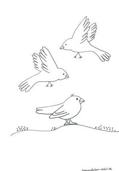 schablonen-2/Ausmalen-Vogel-Familie