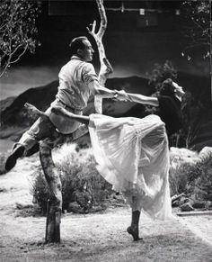 Gene Kelly and Cyd Charisse in Brigadoon (1954)