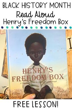 Henry's Freedom Box Activities Free - Are you looking for a free activity to use with the read aloud Henry's Freedom Box? This list of - Reading Activities, Free Activities, Reading Skills, Henrys Freedom Box, Black History Month Activities, Black History Books, Toddler Books, Upper Elementary, Elementary Library