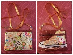 Disorderly Threads shoe bag with added back pocket and cross body strap