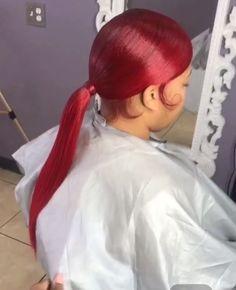 Slicked Back Ponytail, Slick Ponytail, Slicked Hair, Black Girls Hairstyles, Pretty Hairstyles, Black Hairstyle, Weave Ponytail Hairstyles, Ponytail Styles, Jheri Curl