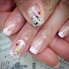 Elegant Nail Designs, Cute Nail Designs, Manicure, Diy Nails, Super Cute Nails, Pretty Nails, Snoopy Nails, Anime Nails, Nails Only