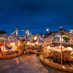 Looking for the best winter terraces in London? These are the hottest drinking spots in London this winter with heated areas, rooftop bars and gardens Garden Igloo, Sky Garden, Garden Bar, London Winter, London Christmas, Unique Restaurants, London Restaurants, Things To Do In London, Cool Things To Buy