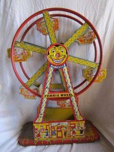 ****REDUCED Vintage Tin Litho Wind Up Hercules Ferris Wheel Toy J Chein 1940's Toy | eBay