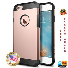 Spigen ROSE GOLD iPhone Case Cover - ROSE GOLD Apple iPhone 6 6s - Free Screenguard & Cleaning Kit (Just Pay Shipping)