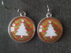 Christmas Earrings Christmas Jewelry Christmass Tree Earrings Tree Jewelry Holiday Jewelry Silver Jewelry Holiday earrings 1