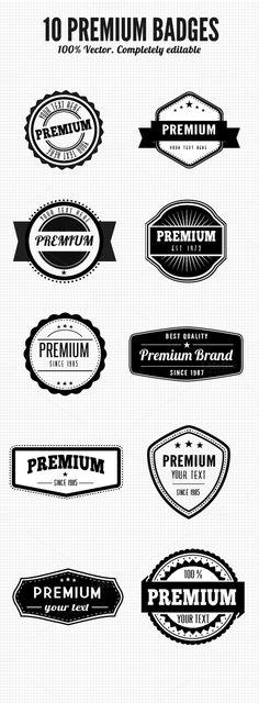 Premium Retro Badges by SCM Shop on Creative Market