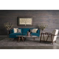 Shop for Florence 5-piece Mid-Century Teal Blue Living Room Set by RST Brands. Get free delivery at Overstock.com - Your Online Furniture Shop! Get 5% in rewards with Club O!