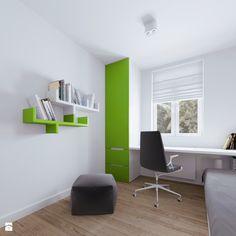 Poddasze AB - Mały pokój dziecka dla chłopca dla nastolatka, styl skandynawski - zdjęcie od 081architekci