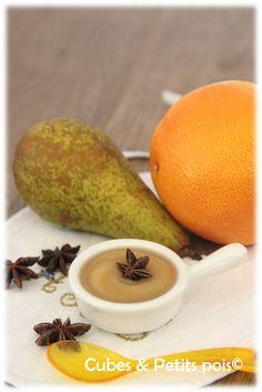 Compote poire badiane pamplemousse pour bébé dès 6 mois.