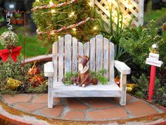 Because We Need a Little Christmas, Right This Very Minute! – The Mini Garden Guru Christmas In July, Little Christmas, Winter Christmas, Christmas Crafts, Holiday, Outdoor Chairs, Outdoor Decor, Cool Writing, Miniture Things