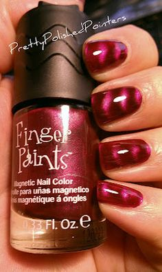 Magnetic nail polish! Love this stuff. #nails #nailpolish #magnetic