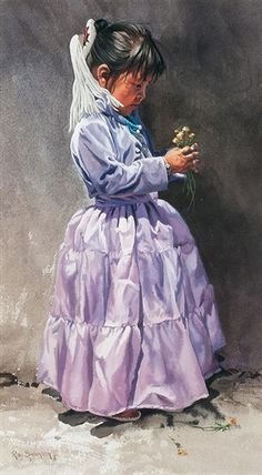 Artwork by Ray Swanson, Purple Dress, Made of Watercolor on board kp