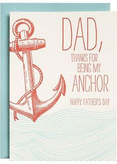 Anchor Father's Day Card at Paper Source