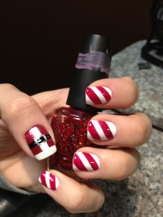 I need a friend talented enough to paint my nails to look like santa
