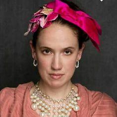 Hot pink silk bowed headband with vintage velvet leaf spray. www.liftedmillinery.com Vintage Velvet, Pink Silk, Hot Pink, Bows, Arches, Pink, Bowties, Bow