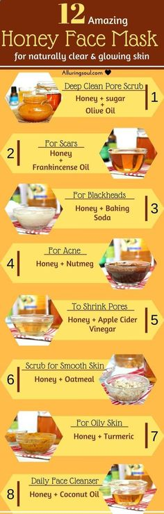 Honey face mask is the oldest remedy to treat skin issues. It can heal skin woun., Beauty, Honey face mask is the oldest remedy to treat skin issues. It can heal skin wound, acne, wrinkles and a great exfoliator too. Its anti-bacterial prope. Homemade Face Masks, Homemade Skin Care, Diy Skin Care, Beauty Care, Beauty Skin, Beauty Hacks, Diy Beauty, Beauty Tips For Skin, Oils For Scars