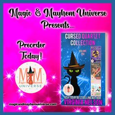 Preorder the Cursed Quartet Collection by Virginia Nelson TODAY! #MagicMayhemUniverse#PNR#preorder#comingsoon#ebooks#magicaltales