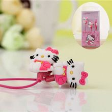 Cartoon Hello Kitty 3.5mm Jack Music Headset Earphone for iPhone Cellphone MP3 Cute Earphone for Cellphone Gift for Child