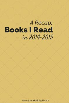 """This post includes a list of the best books I've read in 2014 and 2015! The list includes a mix of memoirs, fiction and non-fiction. Among my top favorites was the fiction book Orphan Train! If you need some new recommendations for your """"To-Read"""" list, find some inspiration from my Best of '14-'15 Reading List."""