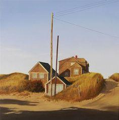 """Balston Beach"" (Truro, Massachusetts), John Dowd, oil on linen, 30 x 30"", private collection."