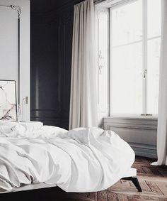 noir et blanc bedroom