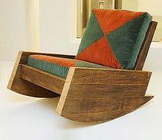 Pallet Rocking Chair.  #pallets  #rockingchair  #chair