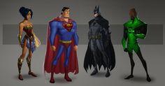 Imaginar os heróis da Liga da Justiça nos traços da Pixar É uma combinação muito interessante. é o que imaginou o artista Daniel Araya .