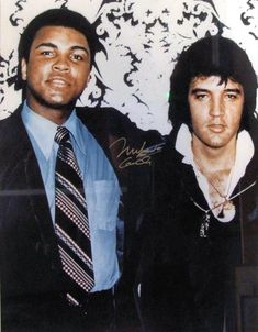 Elvis and Cassius Clay who later changed his name to Mohamad Ali.