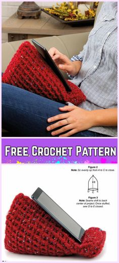 Crochet Tablet Stand Holder Free Patterns-Crochet tablet wedge free pattern