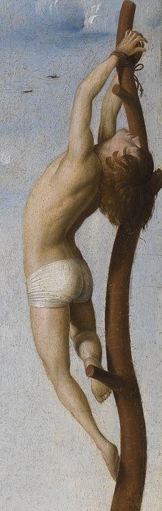 Antonello da Messina, c.1430-1479, Italian, Calvary (Crucifixion with Saint Mary and Saint John Evangelist) (detail), 1475. Oil on panel. Koninklijk Museum voor Schone Kunsten Antwerpen, Antwerp. Early Renaissance.