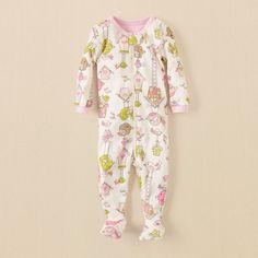 baby girl - sleep & underwear - bird stretchie | Children's Clothing | Kids Clothes | The Children's Place